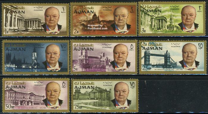 Sir Winston Churchill 8v