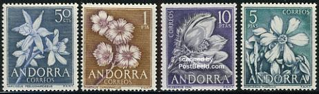 Definitives, flowers 4v