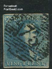 20c, Milkblue, used