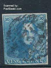 20c Blue, used