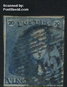 20c, Blue, used, good margins