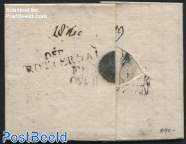 Folding letter from Boulogne sur Mer to Schiedam