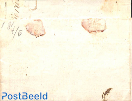 Folding letter to Arnhem.