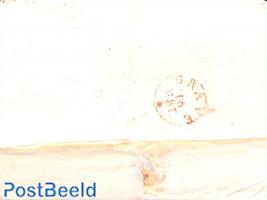 Folding letter from 'S HERTOGENBOSCH via GRAVE to Boxmeer