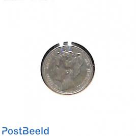 25 cents 1901, narrow neck