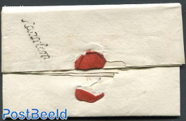 Folding letter from Haarlem to Purmerend