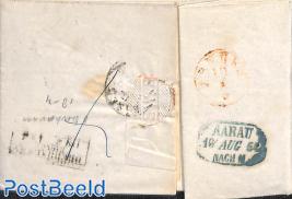 folding letter from Menziken to Aarau