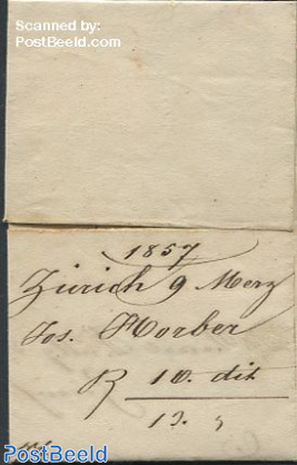 Folding letter from Zurich