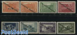 Definitives, overprints 8v