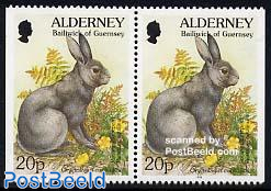 Definitive booklet pair, 20p rabbit