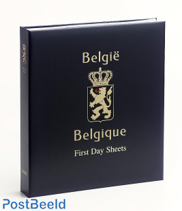 Luxe stamp album Belgium First Day Sheets