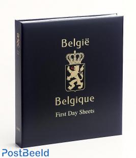Luxe binder stamp album Belgium First Day Sheets