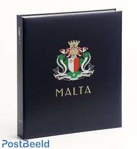 Luxe stamp album binder Malta Rep. III