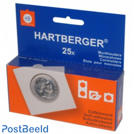 25 Self Adhesive coin holders 40mm