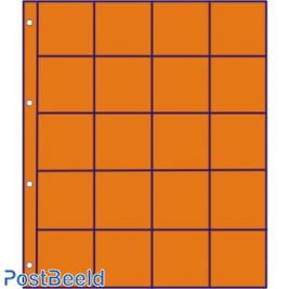 10 orange interleavers squared