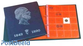Willem 3 luxe album + slip case blue