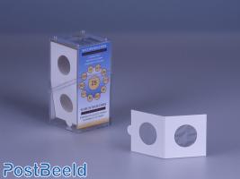 50 Coinholders Self-Adhesive 25mm