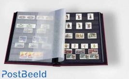 Leuchtturm Basic Stockbook 32 Black Pages (A4) Red