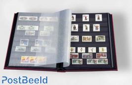 Leuchtturm Basic Stockbook 64 Black Pages (A4) Red