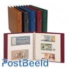 Bank notes album,20 leaves with 2/3 pockets,beige