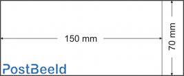 500 glassine bags 70x150mm