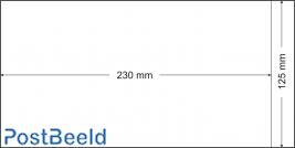 500 glassine bags 125x230mm