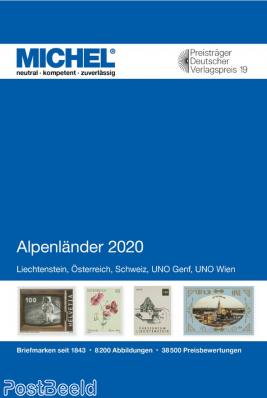 Michel catalogue E1, Switzerland, Austria, Liechtenstein, UNO, 2020 edition