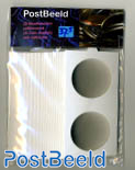 25 Coin holders self-adhesive 37.5mm