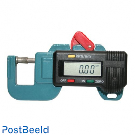 Digital thickness gauge, accuracy 0.01mm with battery