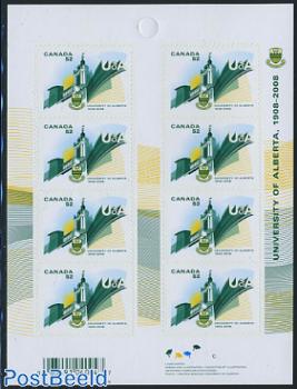 University of Alberta foil booklet