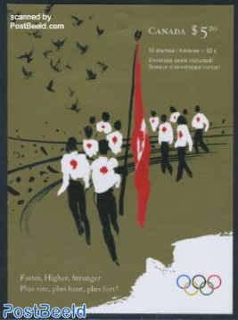 Beijing Olympics foil booklet
