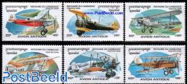 Postal aeroplanes 6v