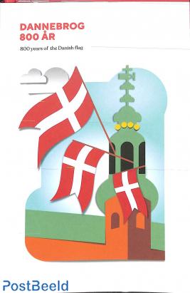 Danish flag 800 years booklet