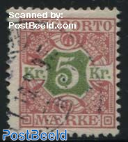 5Kr, Stamp out of set