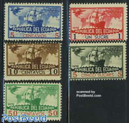 Discovery of America 5v (airmail)