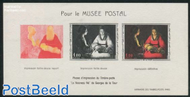 Postal Museum, painting s/s (no postal value)