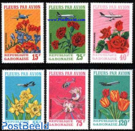 Flowers by plane 6v
