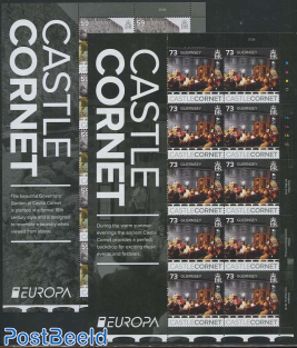 Europa, Castles 2 minisheets (only Europa)