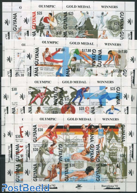 Olympic Games 72v in 8 minisheets