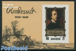 Rembrandt painting s/s, Imperforated
