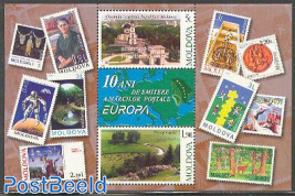 10 years Europa stamps s/s