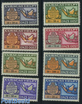 Aid to Dutch India 8v