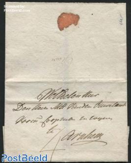 Letter from Grave to Arnhem