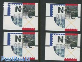 Automat Stamps Frama 4v (10, 70, 80, 100c)