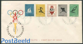 Olympic games 5v FDC without address