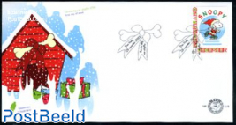 Personal christmas stamp, Snoopy 1v FDC