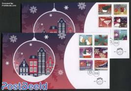 December stamps 11v FDC (2 covers)