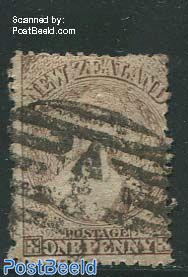 1p brown, WM1, used