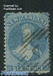 6p Blue, Perf. 12.5, used