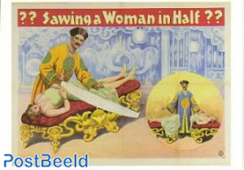 Circus, Sawing a woman in half ??